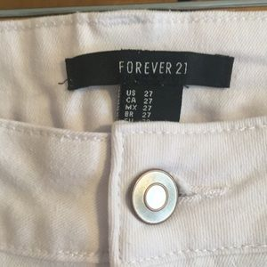 Forever 21 Jeans - Forever 21 Distressed White Bell Bottoms